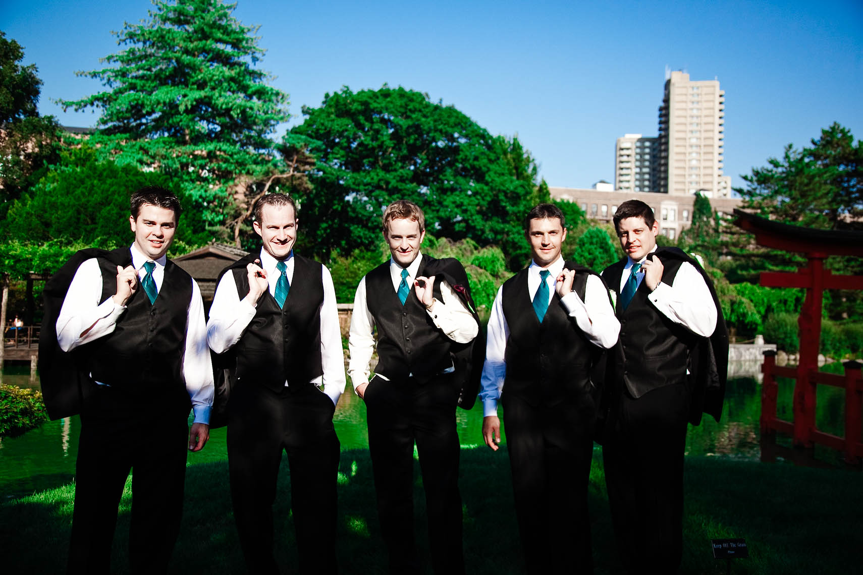 Brooklyn Botanic Garden Wedding Groomsmen