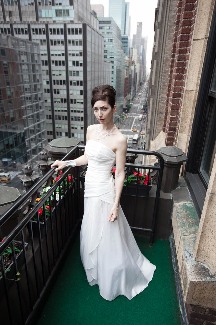 NYC Library Hotel Wedding Portrait 1