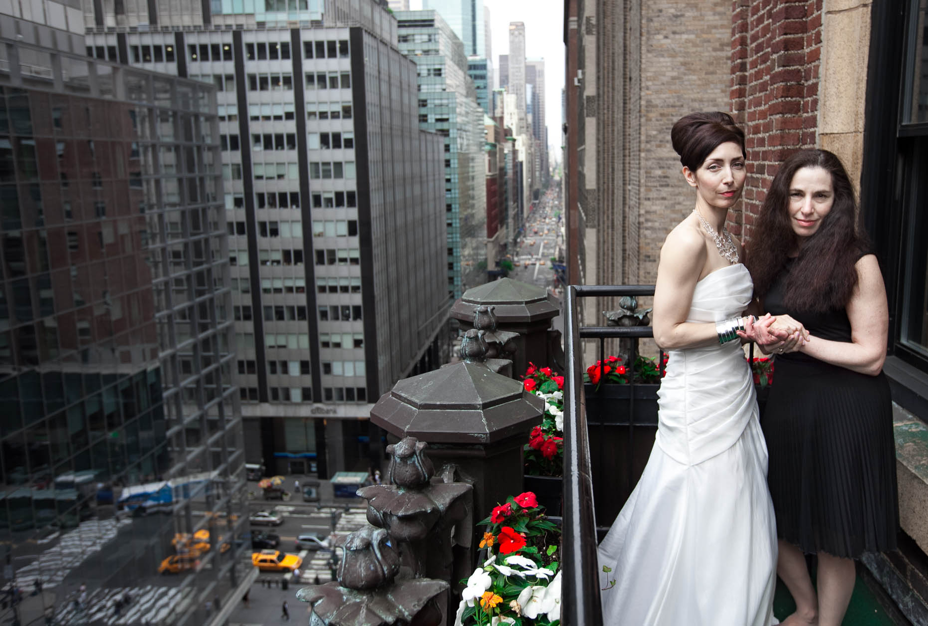 NYC Library Hotel Wedding Portrait 2